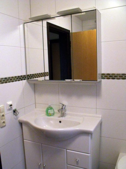 Das Badezimmer des Ferienhauses