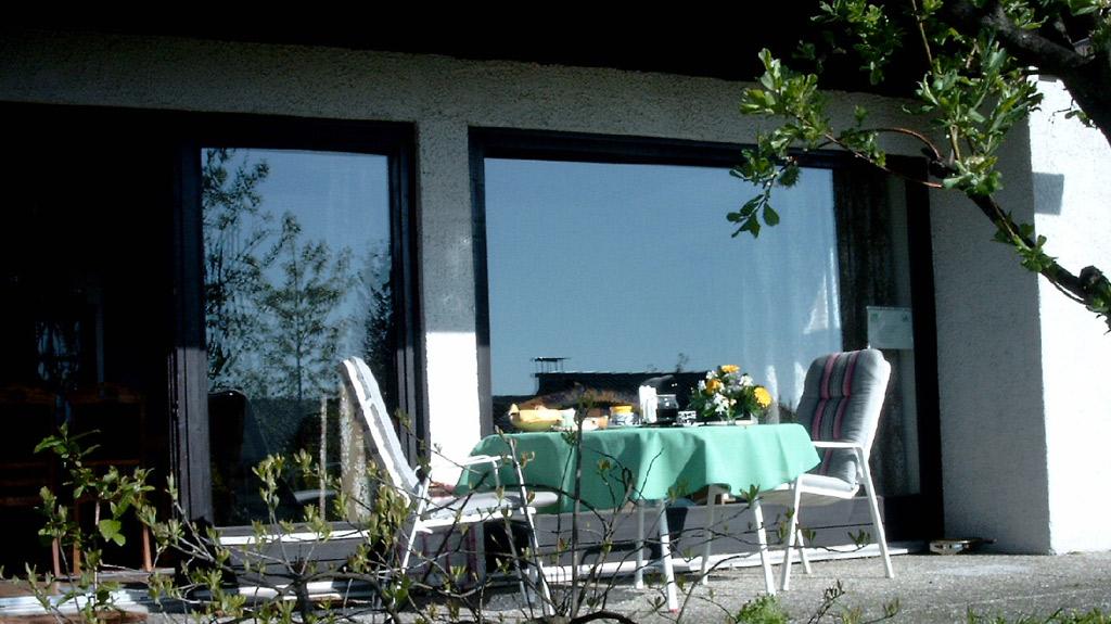 Ferienhaus Rhöndistel - Terrasse