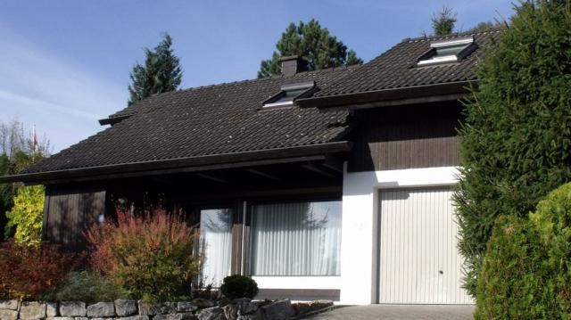 Ferienhaus Rhöndistel - Zufahrt Garage
